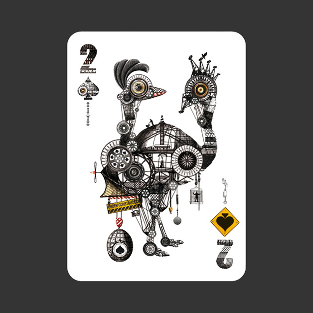 52 Aces - Jeu de cartes avec 52 illustrateurs 24