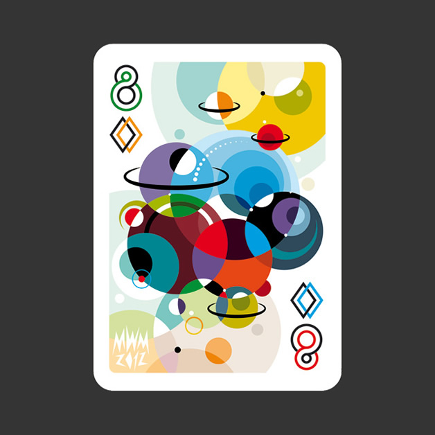 52 Aces - Jeu de cartes avec 52 illustrateurs 18