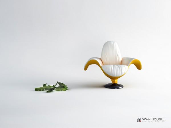 Un fauteuil en forme de Banane - Zjedzony 2