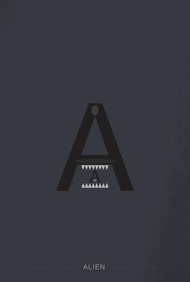 Alphabet de super héros et personnages connus en Helvetica 2