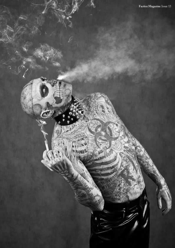 Zombie Boy pose pour Factice Magazine 5