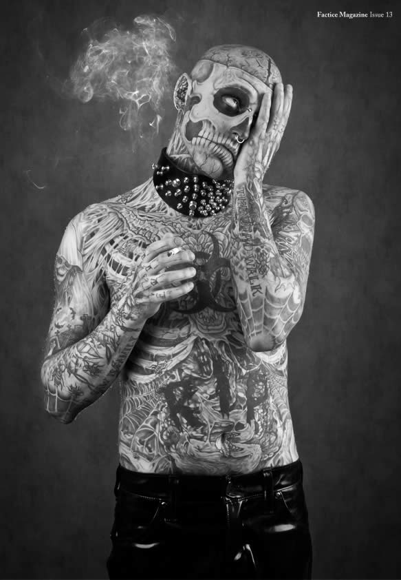Zombie Boy pose pour Factice Magazine 7