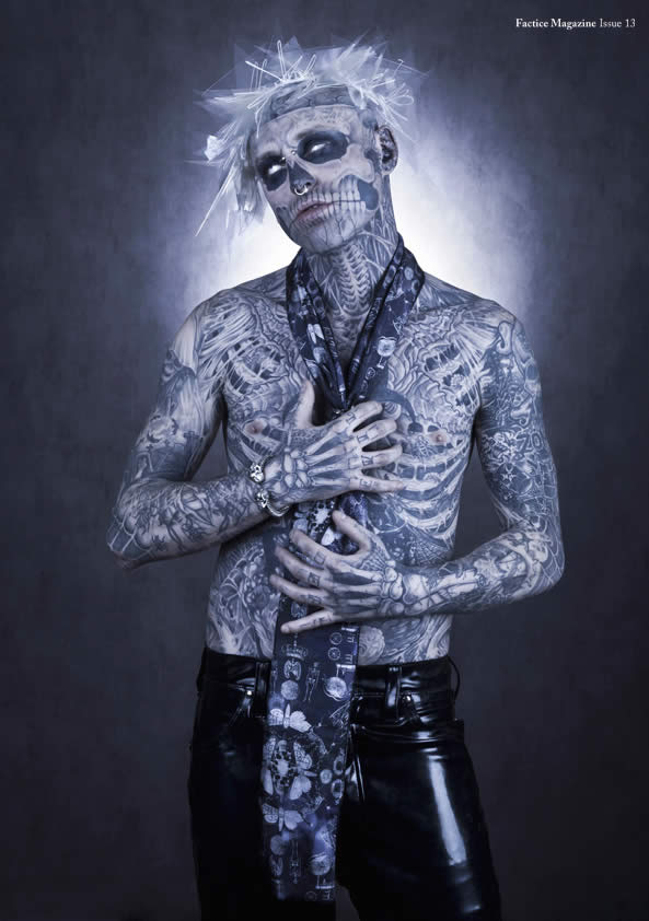 Zombie Boy pose pour Factice Magazine 9