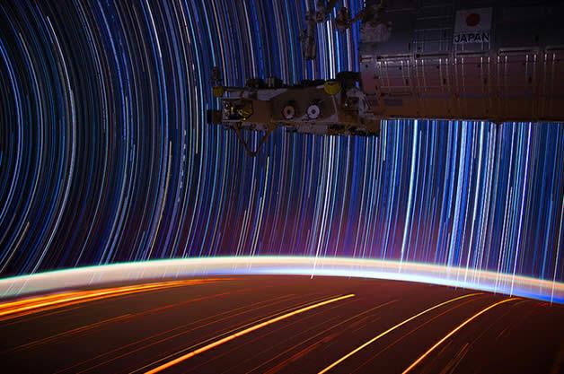 Photos longues poses de la Terre depuis l'espace 8