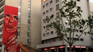Timelapse d'une fresque à Paris  - Shepard Fairey Obey
