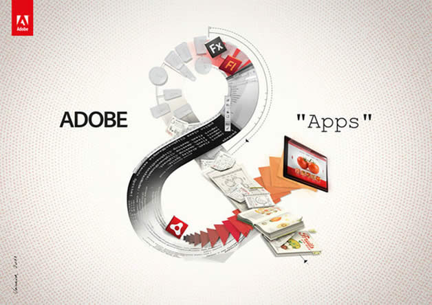 """Nouvelle campagne de publicité pour """"Adobe &"""" 4"""