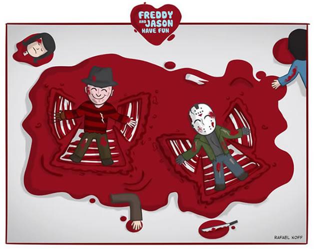 Freddy et Jason s'amusent - du Gore mignon 2