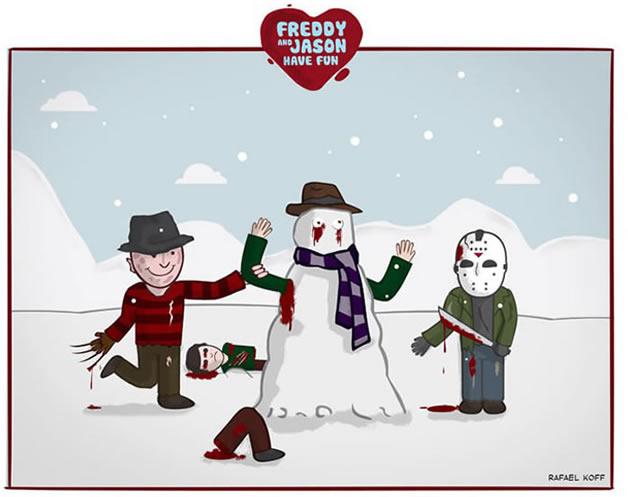 Freddy et Jason s'amusent - du Gore mignon 4