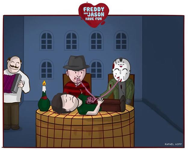 Freddy et Jason s'amusent - du Gore mignon 6