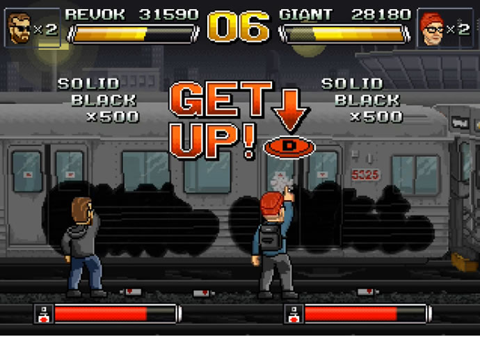 Graphe VS Street-fighter 2