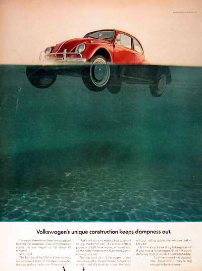 50 vieilles publicités Volkswagen (Combi, Coccinelle...) 13