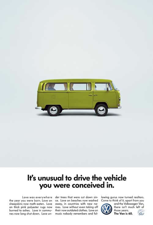 50 vieilles publicités Volkswagen (Combi, Coccinelle...) 19