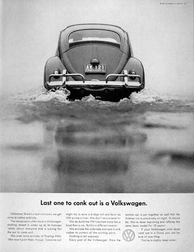 50 vieilles publicités Volkswagen (Combi, Coccinelle...) 22