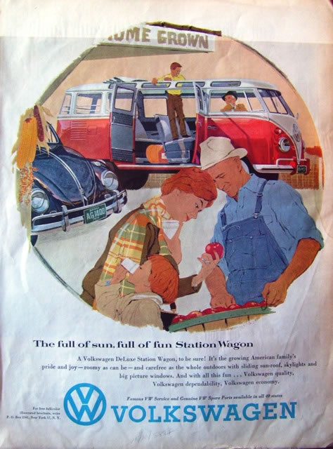 50 vieilles publicités Volkswagen (Combi, Coccinelle...) 24