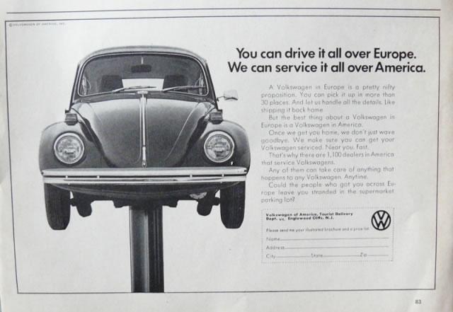 50 vieilles publicités Volkswagen (Combi, Coccinelle...) 28