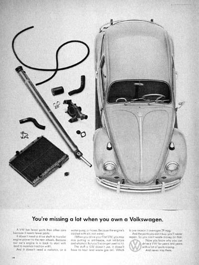 50 vieilles publicités Volkswagen (Combi, Coccinelle...) 34