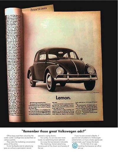 50 vieilles publicités Volkswagen (Combi, Coccinelle...) 40