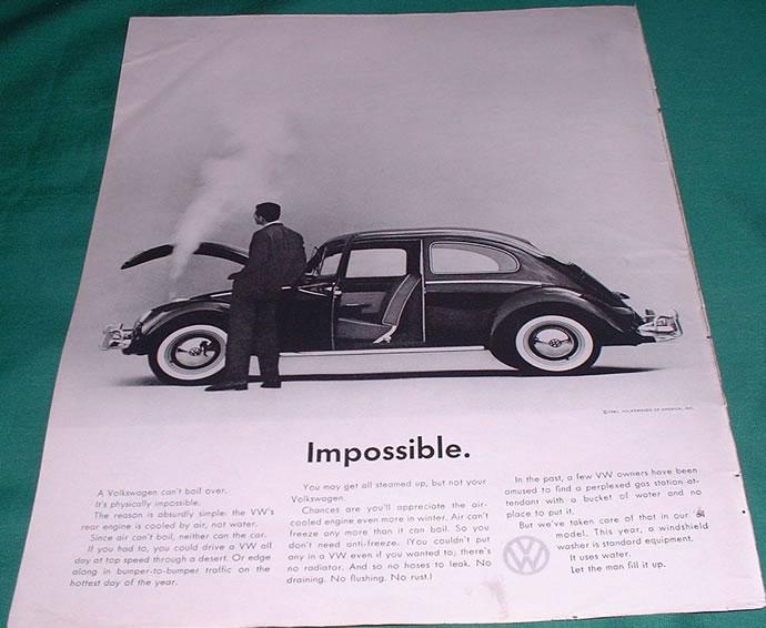 50 vieilles publicités Volkswagen (Combi, Coccinelle...) 43