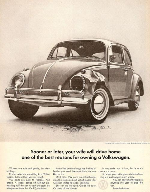50 vieilles publicités Volkswagen (Combi, Coccinelle...) 46