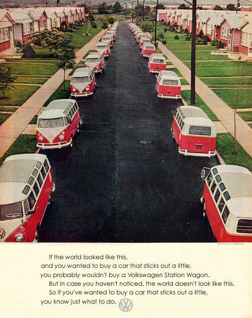 50 vieilles publicités Volkswagen (Combi, Coccinelle...) 48