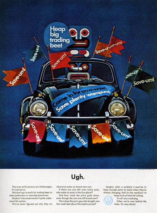 50 vieilles publicités Volkswagen (Combi, Coccinelle...) 49