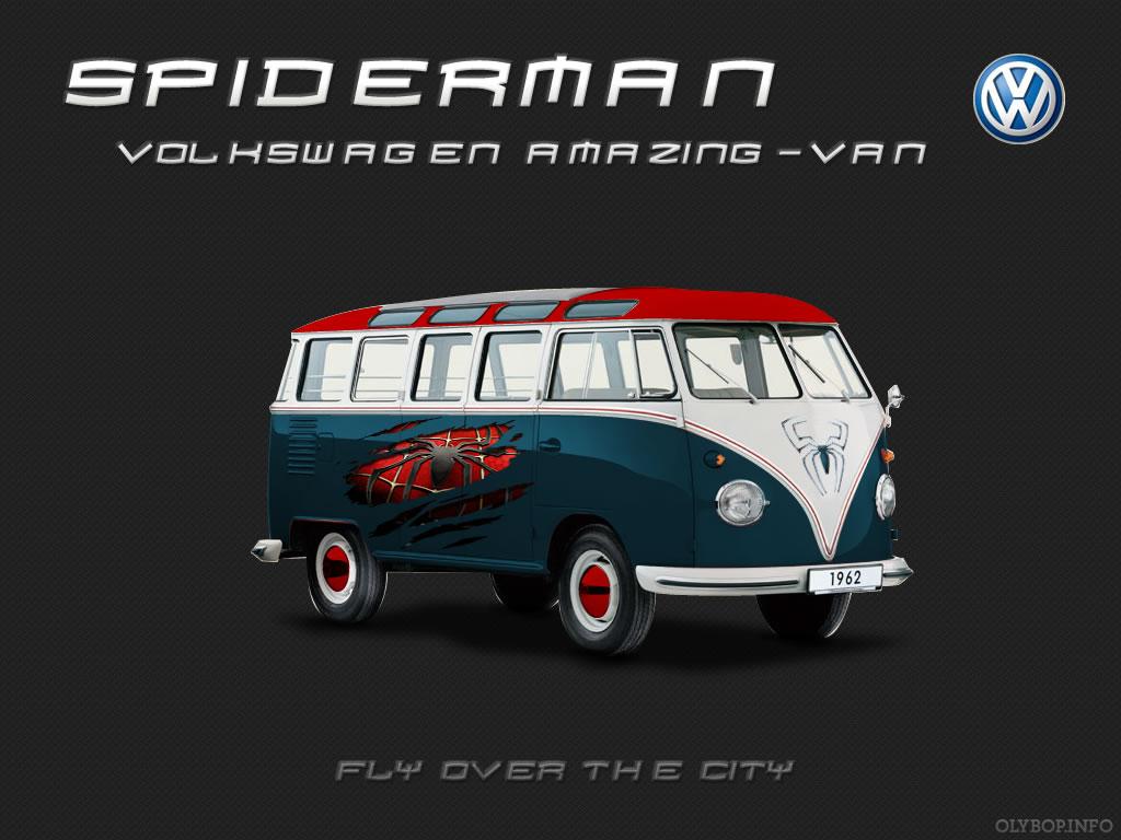 Les Combis VolksWagen Spiderman Superman et Batman 3