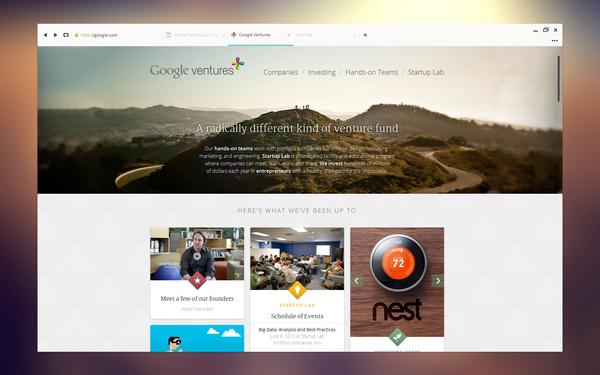 Un concept DesignUI ultra clean de Google Chrome 11