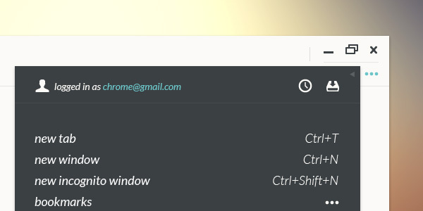 Un concept DesignUI ultra clean de Google Chrome 3