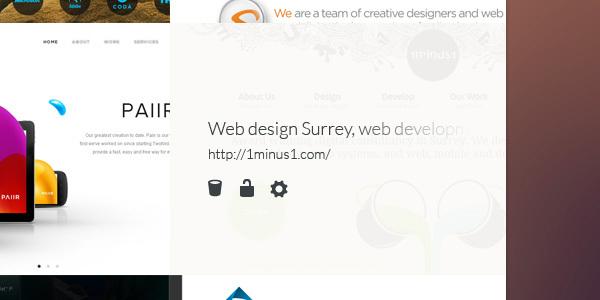 Un concept DesignUI ultra clean de Google Chrome 5