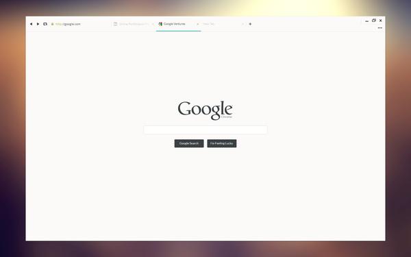 Un concept DesignUI ultra clean de Google Chrome 6
