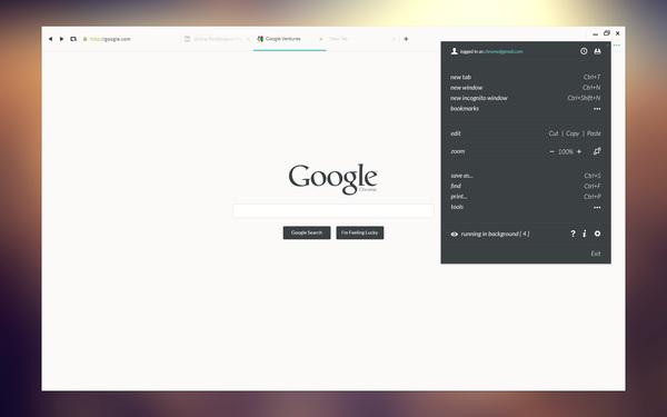 Un concept DesignUI ultra clean de Google Chrome 7