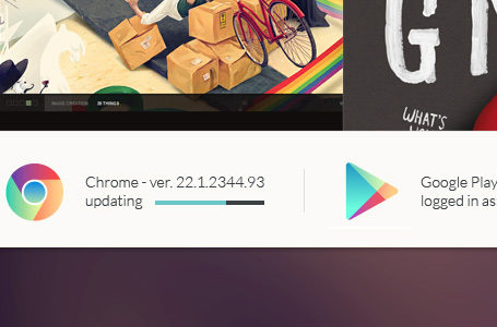 Un concept DesignUI ultra clean de Google Chrome 12