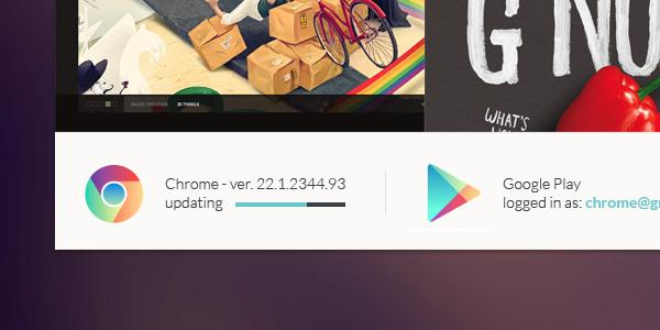 Un concept DesignUI ultra clean de Google Chrome 8