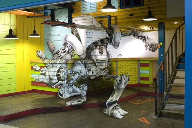 Fresque 3D - Robot by TSFcrew 2