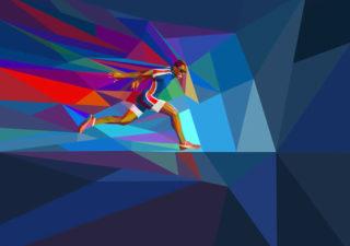 Illustrations géométriques des JO 2012 par Charis Tsevis