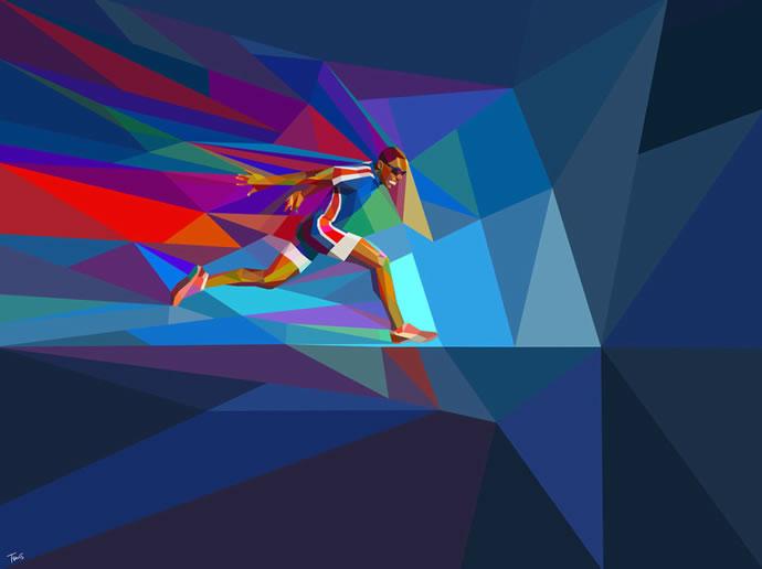 Illustrations géométriques des JO 2012 par Charis Tsevis 3