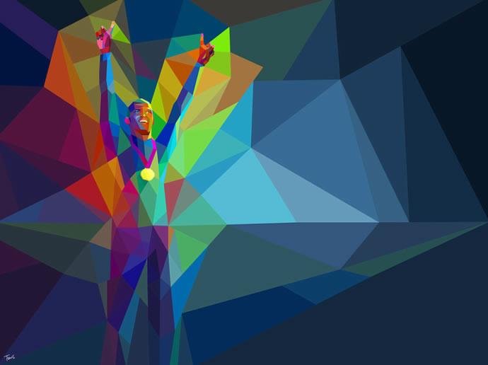 Illustrations géométriques des JO 2012 par Charis Tsevis 4
