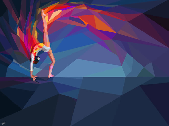 Illustrations géométriques des JO 2012 par Charis Tsevis 6