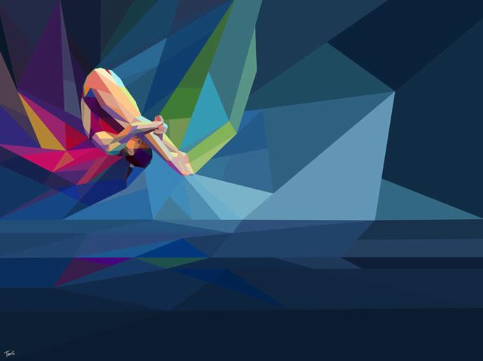 Illustrations géométriques des JO 2012 par Charis Tsevis 8