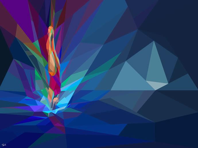 Illustrations géométriques des JO 2012 par Charis Tsevis 2