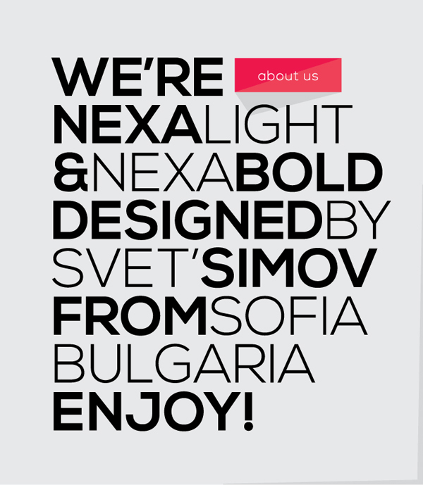 Typographie NEXA - Free Font 7