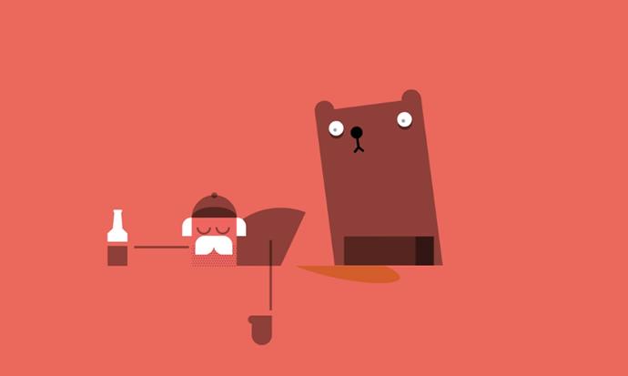 histoire d'homme bourré et d'ours 2
