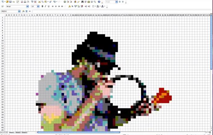 Cuban Pete en Stop-Motion et dans Excel 2