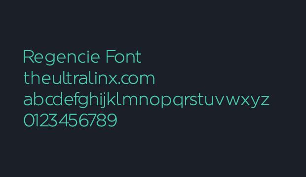 2 typographies gratuites -  Regencie et Selfa 2