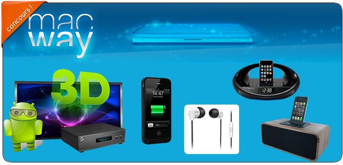 [Concours]Gagnez 1 lecteur multimédia, docks, réveils et accessoires #Iphone avec Macway 2