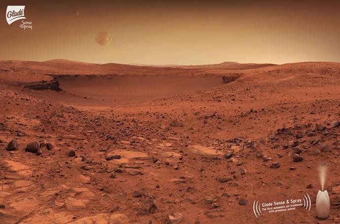 Publicités autour de la planète Mars 3