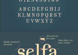 2 typographies gratuites -  Regencie et Selfa 1