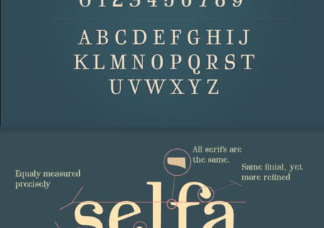 2 typographies gratuites -  Regencie et Selfa 4