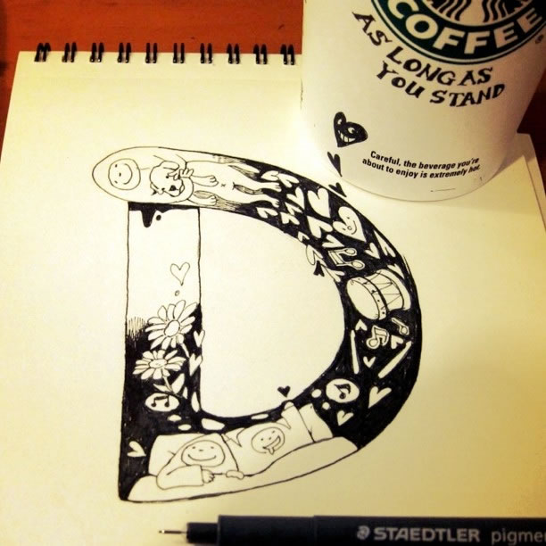 Illustration : Les Doodles Starbucks de Tokomo 29