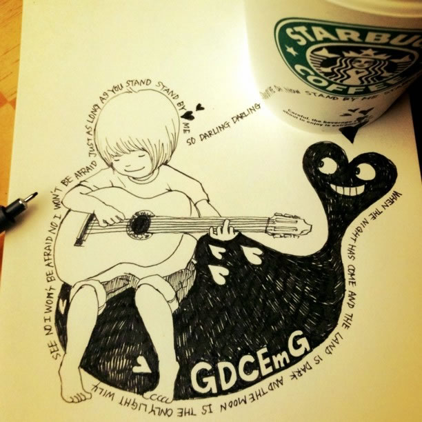 Illustration : Les Doodles Starbucks de Tokomo 30